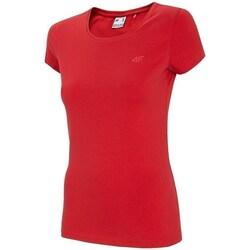 Clothing Women short-sleeved t-shirts 4F TSD001 Red