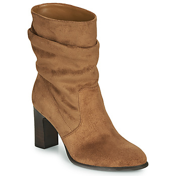 Shoes Women Ankle boots Unisa ULANO Beige