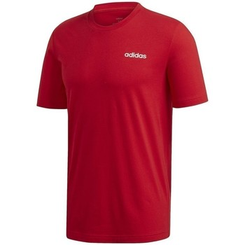 Clothing Men short-sleeved t-shirts adidas Originals Essentials Plain Tee Red