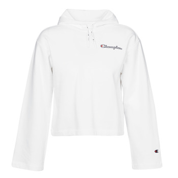 Clothing Women Sweaters Champion HEAVY COMBED COTTON FLEECE White