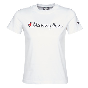 Clothing Women Short-sleeved t-shirts Champion ATHLETIC JERSEY COMBED White