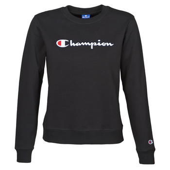 Clothing Women Sweaters Champion HEAVY COMBED COTTON FLEECE Black