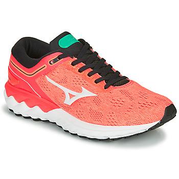 Shoes Women Running shoes Mizuno WAVE SKY RISE Coral