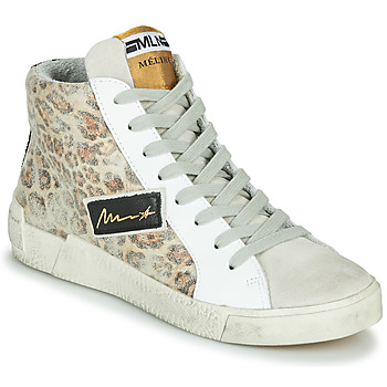 Shoes Women Hi top trainers Meline NK5050 Beige / Leopard