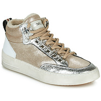 Shoes Women Hi top trainers Meline STRA5056 Beige / Gold