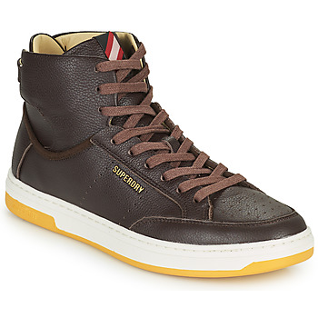 Shoes Men Hi top trainers Superdry PREMIUM BASKET LUX TRAINER Brown