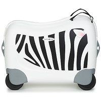 Bags Children Hard Suitcases Sammies DREAM RIDER ZEBRA ZENO White