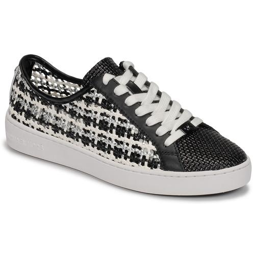 Shoes Women Low top trainers MICHAEL Michael Kors OLIVIA LACE UP Black / White