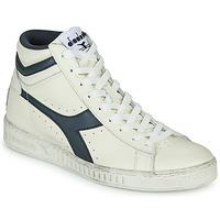Shoes Hi top trainers Diadora GAME L HIGH WAXED White / Blue