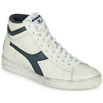 Shoes Hi top trainers Diadora GAME L HIGH WAXED White / Blue