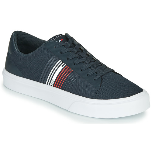 Shoes Men Low top trainers Tommy Hilfiger LIGHTWEIGHT STRIPES KNIT SNEAKER Blue / White / Red