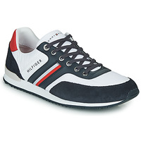 Shoes Men Low top trainers Tommy Hilfiger ICONIC MATERIAL MIX RUNNER White / Blue / Red