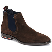 Shoes Men Mid boots Tommy Hilfiger SIGNATURE HILFIGER SUEDE CHELSEA Brown
