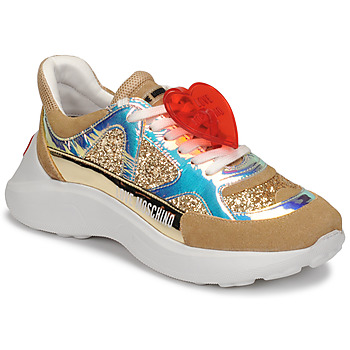 Shoes Women Low top trainers Love Moschino JA15196G1B Beige / Gold
