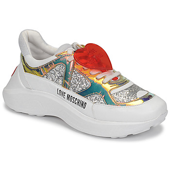Shoes Women Low top trainers Love Moschino JA15196G1B Silver