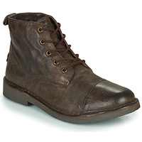 Shoes Men Mid boots Levi's TRACK Brown