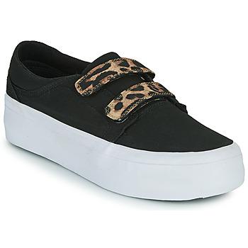 Shoes Women Hi top trainers DC Shoes TRASE PLATEFORM V Black / Leopard