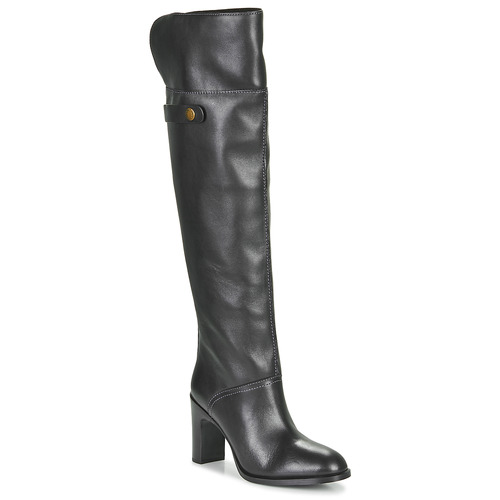 Shoes Women Thigh boots See by Chloé NAVY Black