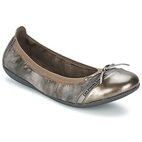 Shoes Women Flat shoes Les P'tites Bombes CAPRICE METAL Grey