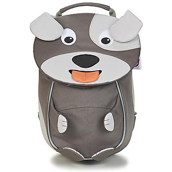 Bags Children Rucksacks Affenzahn DAVID DOG Grey