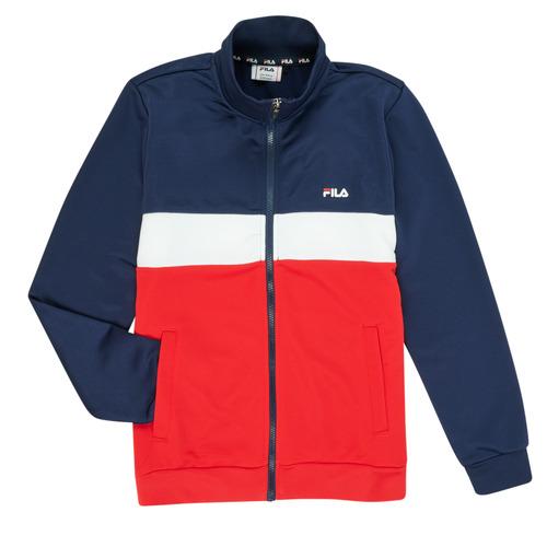 Clothing Boy Track tops Fila MANOLO Marine / White / Red