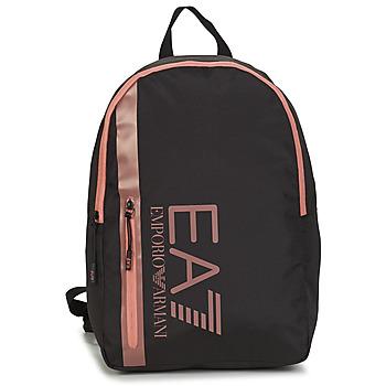 Bags Women Rucksacks Emporio Armani EA7 TRAIN CORE U BACKPACK B Black / Pink