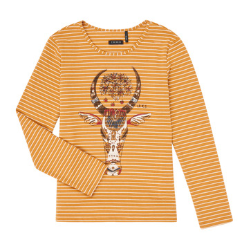 Clothing Girl Long sleeved tee-shirts Ikks XR10102 Brown