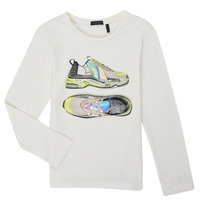 Clothing Girl Long sleeved tee-shirts Ikks XR10172 White
