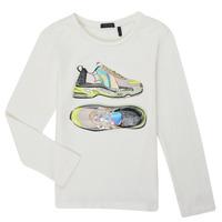 Clothing Girl Long sleeved tee-shirts Ikks XR10172 White