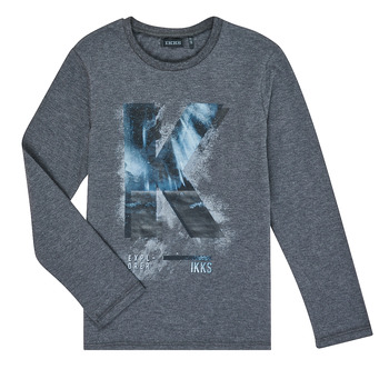 Clothing Boy Long sleeved tee-shirts Ikks XR10203 Grey
