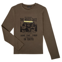 Clothing Boy Long sleeved tee-shirts Ikks XR10313 Brown