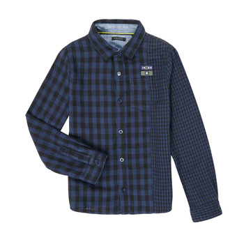 Clothing Boy Long-sleeved shirts Ikks XR12123 Blue