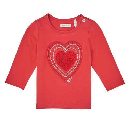 Clothing Girl Long sleeved tee-shirts Ikks XR10010 Orange