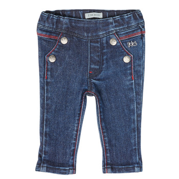 Clothing Girl Straight jeans Ikks XR29000 Blue