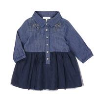 Clothing Girl Short Dresses Ikks XR30150 Blue
