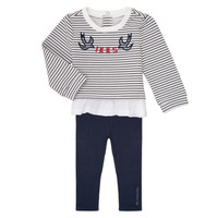 Clothing Girl Sets & Outfits Ikks XR36030 Marine / White
