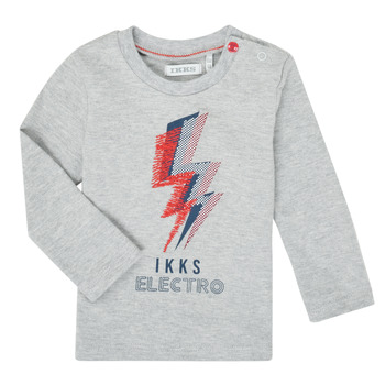 Clothing Boy Long sleeved tee-shirts Ikks XR10031 Grey
