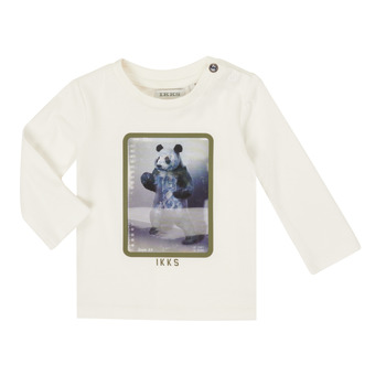 Clothing Boy Long sleeved tee-shirts Ikks XR10101 White