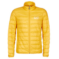 Clothing Men Duffel coats Emporio Armani EA7 TRAIN CORE ID M DOWN LIGHT JACKET Yellow