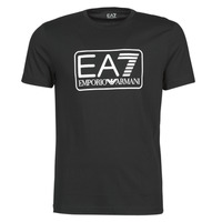 Clothing Men Short-sleeved t-shirts Emporio Armani EA7 TRAIN LOGO SERIES M TEE 1 PIMA CO Black