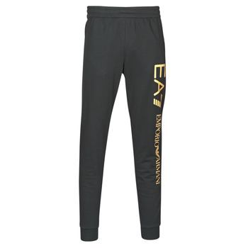 Clothing Men Tracksuit bottoms Emporio Armani EA7 TRAIN LOGO SERIES M PANTS Black