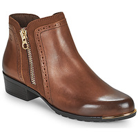 Shoes Women Mid boots Caprice 25403-313 Cognac