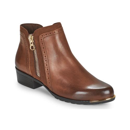 Shoes Women Mid boots Caprice 25403-313 Cognac