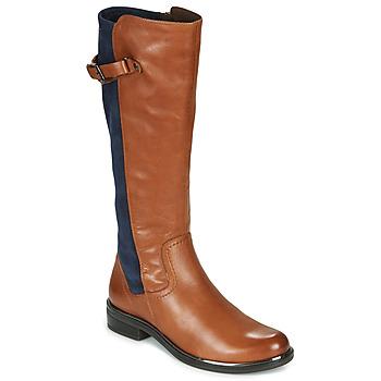 Shoes Women High boots Caprice 25504-387 Cognac / Blue