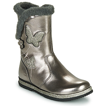 Shoes Girl High boots Chicco CAMPANELLA Silver