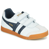 Shoes Children Low top trainers Gola HARRIER VELCRO White / Marine