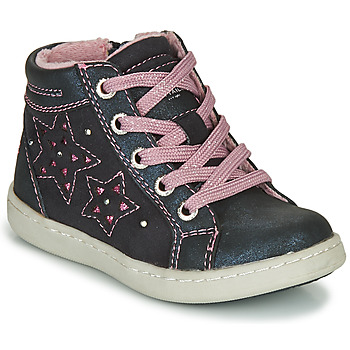 Shoes Girl Hi top trainers Tom Tailor 72702-BLEU Marine / Pink