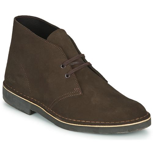 Shoes Men Mid boots Clarks DESERT BOOT 2 Brown