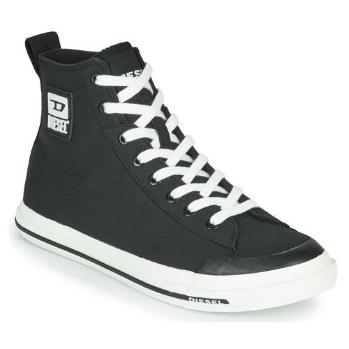 Shoes Men Hi top trainers Diesel S-ASTICO MID CUT Black