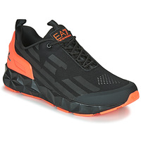 Shoes Men Low top trainers Emporio Armani EA7 XCC52 Black / Orange